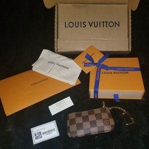 Louis Vuitton Key Pouch in Damier Ebene